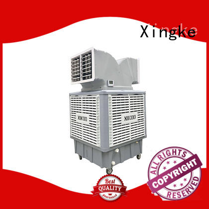 Xingke plastic small portable evaporative cooler with double air outlet for industry