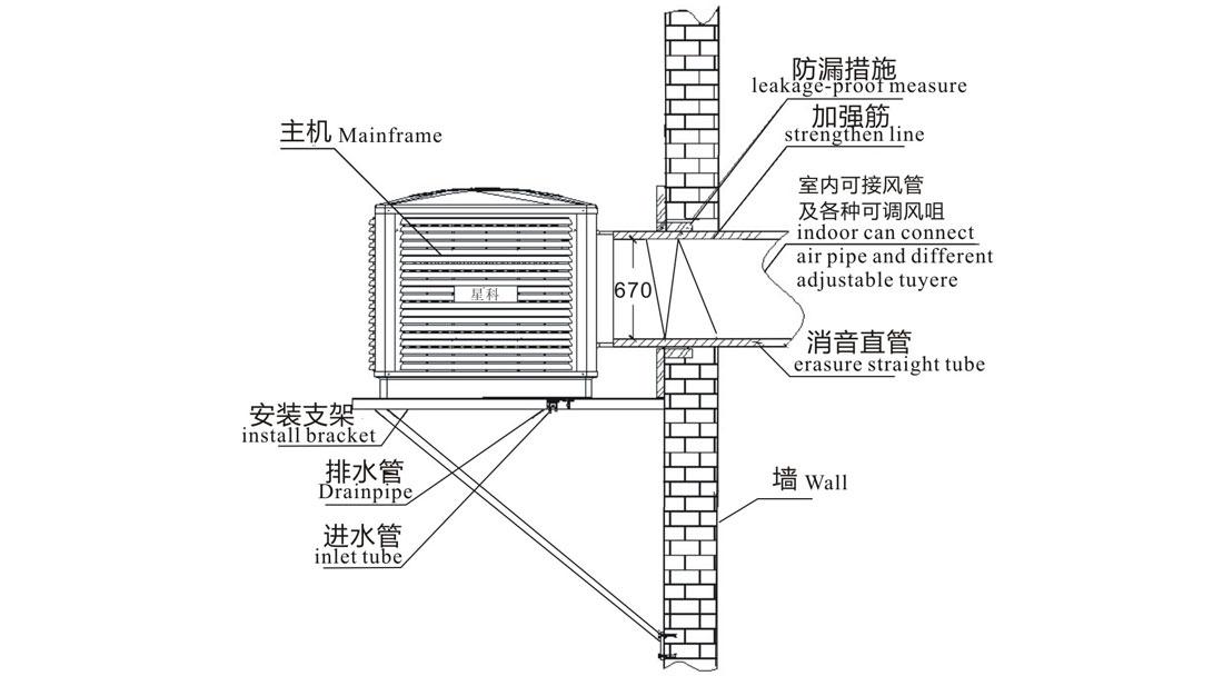Xingke-Professional Evaporative Water Cooler Air Cooler For Industrial