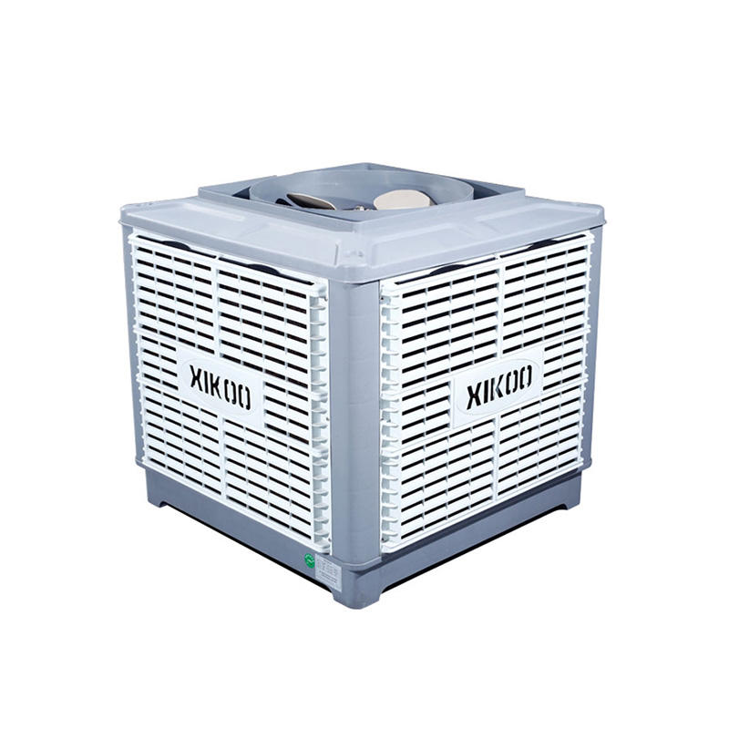 XIKOO four blades 23000m³/h 1.3kw evaporative noiseless air cooler for 100-200㎡area XK-23S-UP with CE quality authentication
