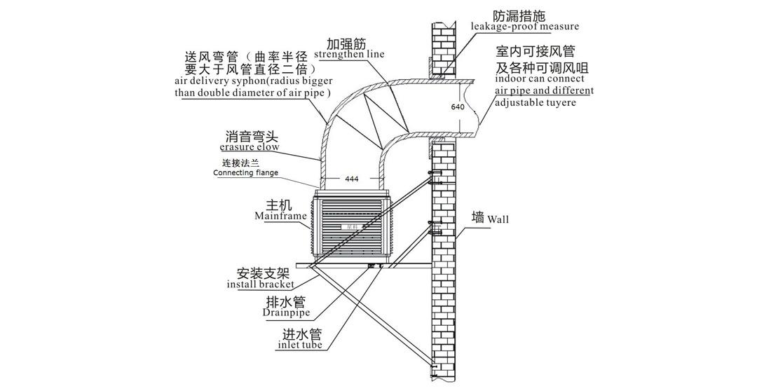 Xingke-Quiet Evaporative Air Cooler Xikoo Four Blades 23000m³h