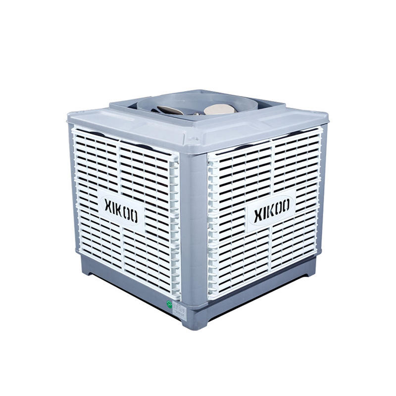 XIKOO up flow 25000m³/h 1.5kw factory air cooler for 100-200㎡area XK-25S-UP with 12 wind speeds