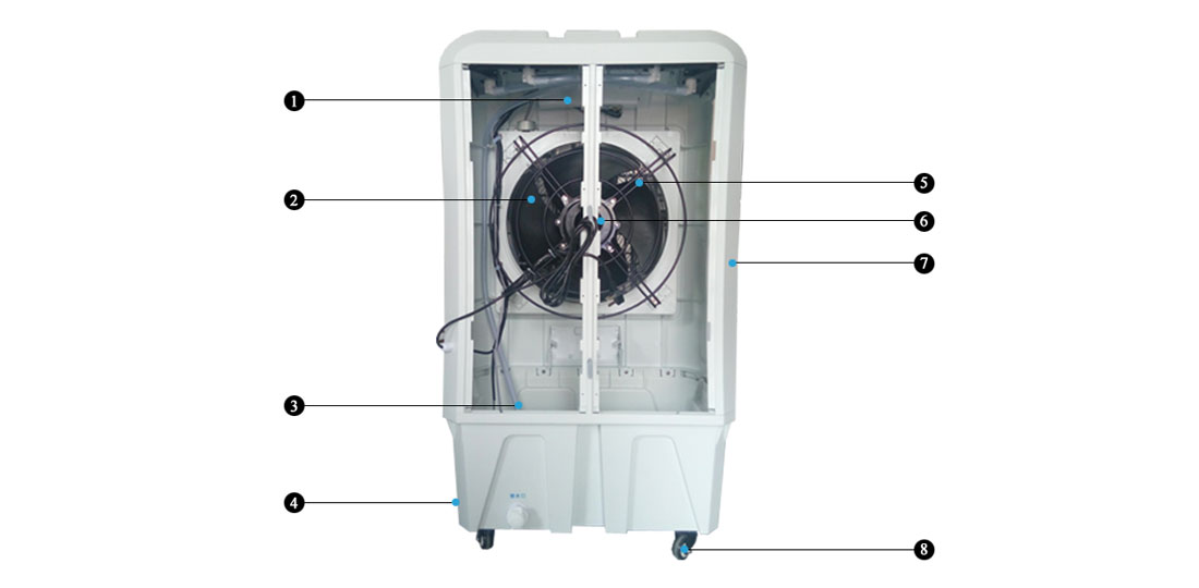 Xingke-Find Kitchen Ventilation Evaporative Air Cooler Portable Water Cooler-1