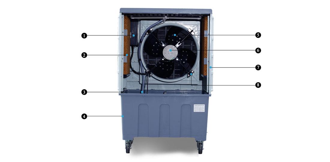 Xingke-Professional Portable Water Cooler Fan Tent Industrial Air Cooler-1