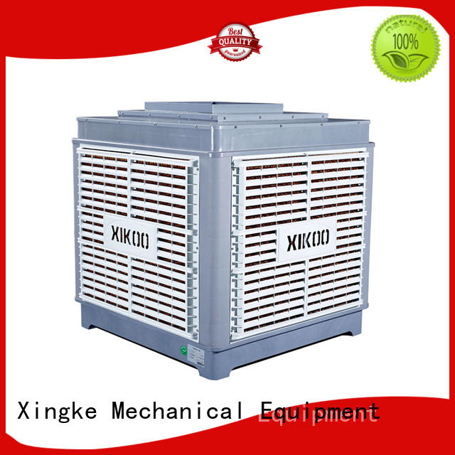 XIKOO 20000m³/h 1.5kw roof mounted evaporative air cooler for 150-200㎡area XK-20S-UP with new material PP plastic cabinet