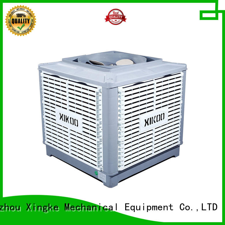 Xingke new quiet evaporative air cooler with new pp material for factory