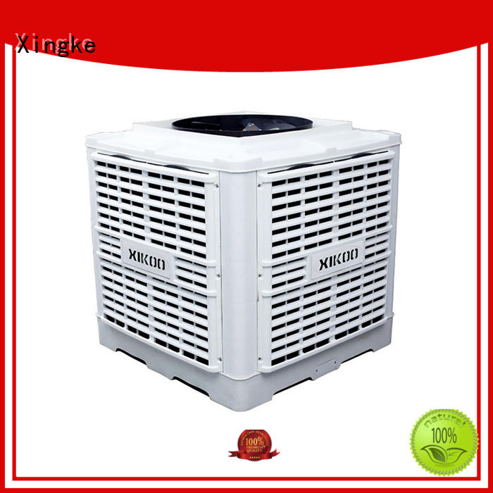 XIKOO 30000m³/h 3kw warehouse/ workshop air cooler for 150-300㎡area XK-30S-UP with high pressure mute plastic nylon fan