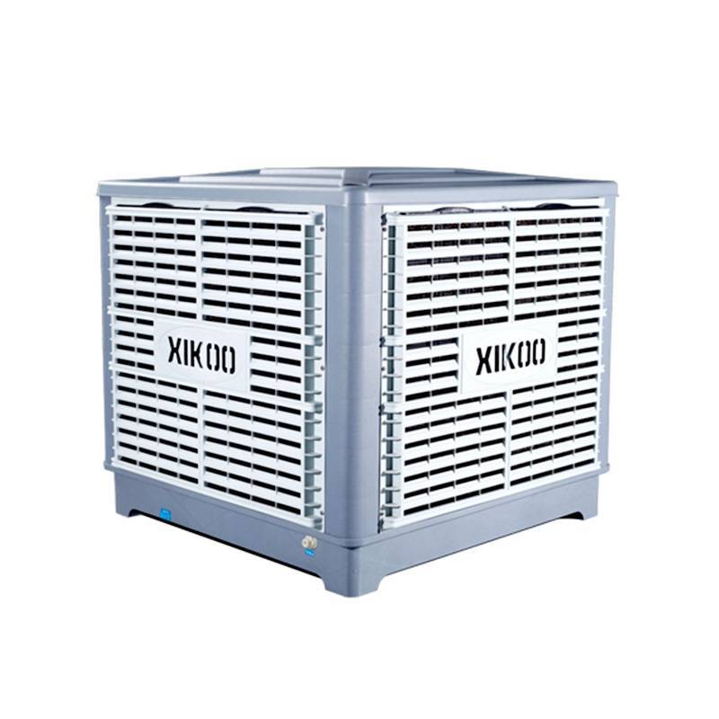 XIKOO 18000m³/h 1.1kw evaporative air cooler for 100-150㎡ area XK-18S-DOWN with new PP materials