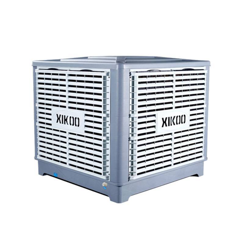 XIKOO down flow 25000m³/h 1.5kw evaporative air cooler for factory XK-25S-DOWN with remote controller