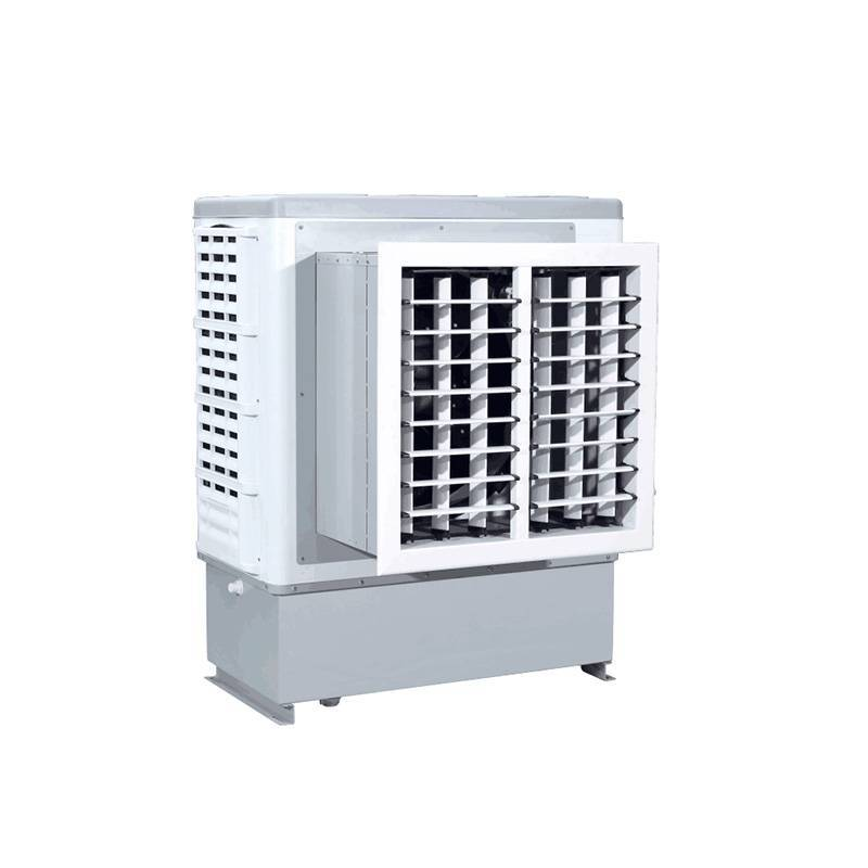 XIKOO 9000m³/h 380w window wall mounted evaporative air cooler for 20-40㎡ area XK-90C with high pressure mute plastic nylon fan