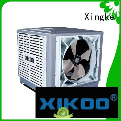XIKOO side flow 23000m³/h 1.3kw cooling pad water air cooler for 100-200㎡area XK-23S-SIDE with LCD touch display
