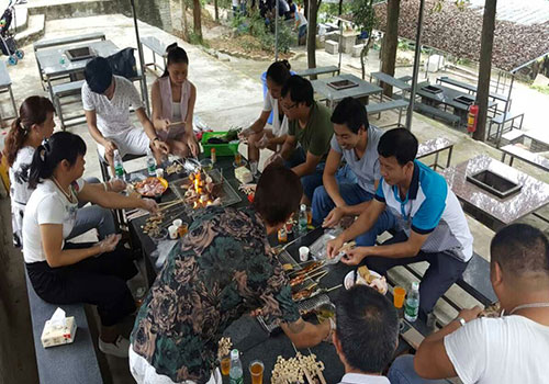 Xingke-Read Xingke Evaporative Air Cooler Company Workshop Staff Outdoor Barbecue-1